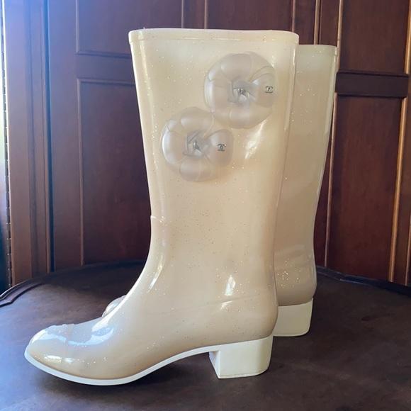 Chanel Jelly Rain Boots